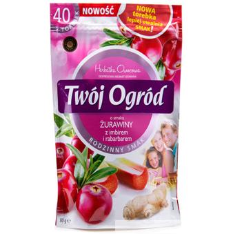 Чай фруктовый Twoj Ogrod Zurawiny (клюква, имбирь, ревень) 40 пакетов Польша , фото 2