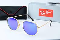 Солнцезащитные очки круглые Rb фиолетовые, фото 1