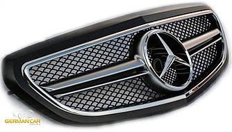 Решетка радиатора Mercedes W212 рестайл в стиле AMG (черный мат)