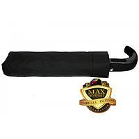 Черный мужской зонт полуавтомат, система антиветер,ручка крюк