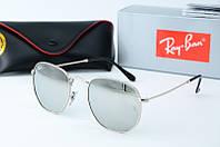 Солнцезащитные очки круглые Rb зеркальные, фото 1