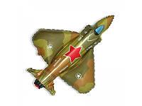 """Воздушный шарик фольгированный """"Истребители милитари""""  1  шт."""