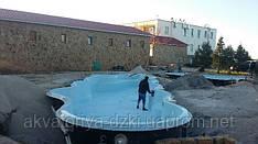 Самый огромный цельнолитой стеклопластиковый бассейн в Евразии! Длина 16,50м, ширина 5,50м!