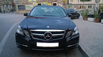 Решетка радиатора Mercedes W212 (09-13) тюнинг стиль AMG 63 (хром)