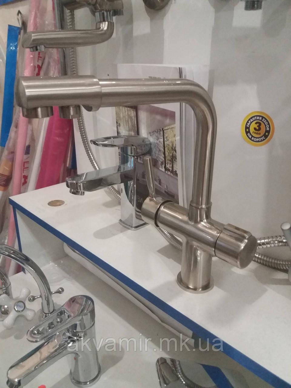 Смеситель для кухни и фильтра HAIBA HANS  нержавеющая сталь