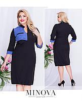 Модное повседневное удобное платье большого размера  ТМ Minova (48,50,52,54)