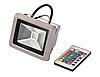 Цветной светодиодный прожектор 50Вт RGB, с пультом