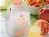 Натуральный Органический Гель Алоэ Вера с Персиком, Форевер, США, Forever Aloe Bits 'N Peaches, 1л