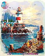 Картина раскраска по номерам Маяк 50х40см с подрамником