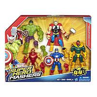 Разборные фигурки Халк, Железный человек, Вижен, Тор, Капитан Америка от Hasbro, Super Hero Mashers