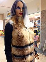 Роскошная жилетка женская из лисички удлиненная, фото 1