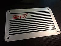 Накладка на коврик STI для Subaru