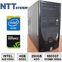 Системный блок NTT - 4х2.4GHz /4GB RAM /250GB HDD /GeForce 9600GT 512MB 256-bit