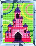 Детский набор для вышивания X-2277: X-2276: Замок (15×20 см)