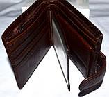 Мужской горизонтальный каштановый кошелек из натуральной кожи Balisa 11,5*10 см, фото 2