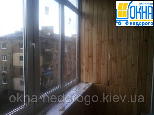 Застеклить балкон под ключ Киев
