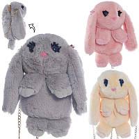 Сумочка - Рюкзачок Кролик, плюш, ручка (цепочка), 1 отделение, застежка молния, 3 цвета, 29x20x11 см, 00205-10