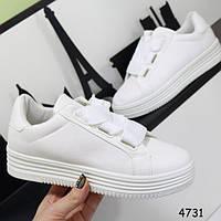 Кеды женские на платформе с широкими шнурками -  Бесплатная доставка Выгодная цена! Закажите у Нас!