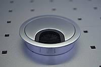 Заглушка для проводов хром-мат