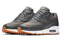 Модные модные кроссовки Nike Air Max 90 Premium Dark Grey/Gum Yellow/White
