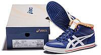 Стильные беговые мужские кроссовки Asics Mexico Winter Blue С МЕХОМ
