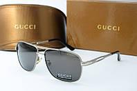 Солнцезащитные очки Gucci серые, фото 1