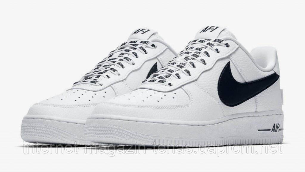 ca04a0abadf1 Стильные кроссовки Nike Air Force 1 Low NBA White Black - Интернет-магазин