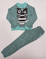 Модный прогулочный костюм для девочки р.116-134 мята