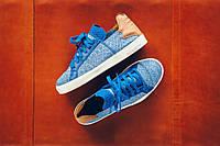Кроссовки для мужчин Pharrell Williams x Adidas Elastic Lace Blue/Cream