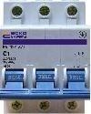АСКО С 2 А/3p. Автоматический выключатель 3-х полюсный УКРЕМ ВА-2001,