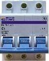 АСКО С 16 А/3p. Автоматический выключатель 3-х полюсный УКРЕМ ВА-2001,