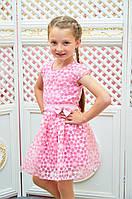 Детское платье для девочки Розалина р.110-128 розовый