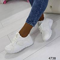 Кроссовки женские модные, удобные - белоснежные + Бесплатная доставка Закажите у Нас качественную обувь!
