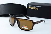 Солнцезащитные очки прямоугольные Porsche коричневые, фото 1