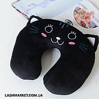 Подушка под голову - подкова (чёрная)
