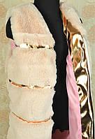 Детские меховые жилетки для девочек 6, 8, 9 лет, персиковая Чернигов