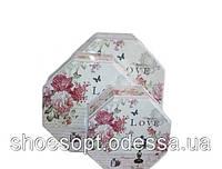 Коробки жестяные Прованс цветы набор 3шт