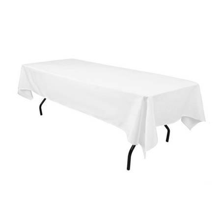 Скатертина 1,45*2,50 Біла з тканини Н-245 на стіл 0,90*1,80 Прямокутна Щільна, фото 2