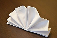 Скатерть 1,40*2,10 Белая из ткани Н-245 на стол 0,80*1,50 Прямоугольная Плотная, фото 3