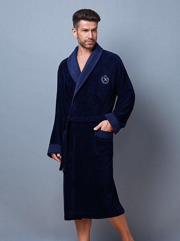 Чоловічий халат L&L CLINT  бамбук-велюр