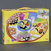 Пластилин - тесто, Набор для детской лепки Японская кухня, инструменты, формочки, 8208