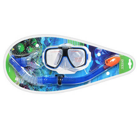 Набор для плавания маска с трубкой Intex 55948 Рифовый пловец, фото 2