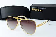 Солнцезащитные очки Porsche коричневые, фото 1
