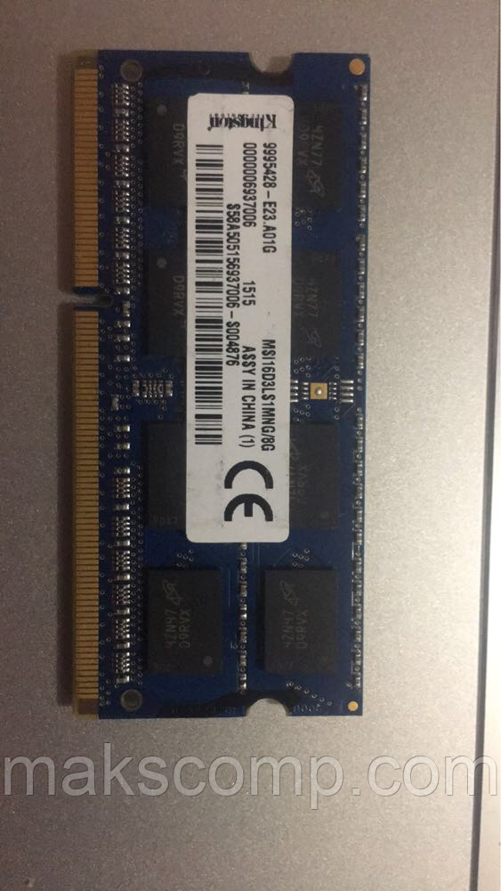 Память Kingston 8Gb So-DIMM DDR3