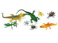 Животные рептилии в пакете