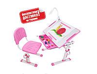 Растущий комплект парта+стул для дома ТМ Cubby KARO Pink