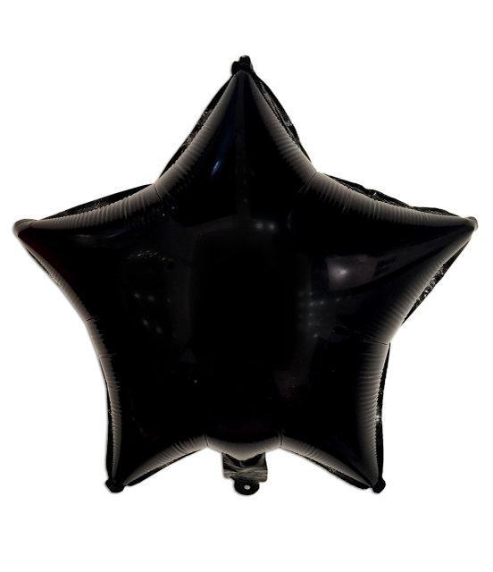 """Шар фольгированный """"Звезда"""" черная, 45 см"""