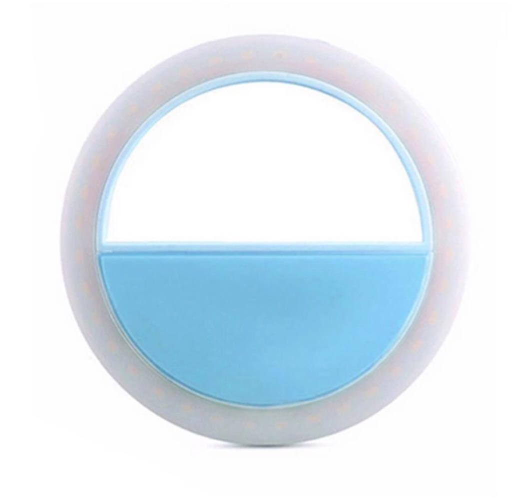 Кольцо для селфи, голубое