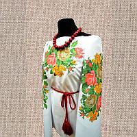 Женская сорочка бисером (нитками) ВМ-СЖ-35. Заготовка под вышивку.