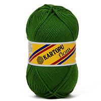 Пряжа Kartopu Flora К392 зеленый